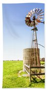 Wind Powered Farming Station Beach Towel