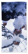 Wind Snow Chimes Beach Towel by Robert Knight