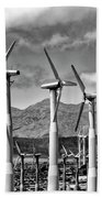 Wind Turbines Palm Springs Beach Towel