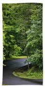 Winding Road Bluestone State Park West Virginia Beach Towel