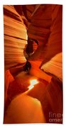 Winding Through Antelope Canyon Beach Towel