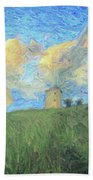Windmill Girl Beach Towel