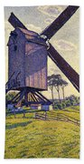 Windmill In Flanders Beach Towel