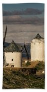 Windmills Of La Mancha Beach Towel by Heiko Koehrer-Wagner