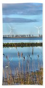 Windmills On A Windless Morning Beach Towel