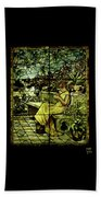 Window - Lady In Garden Beach Towel