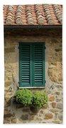 Window #3 - Cinque Terre Italy Beach Towel