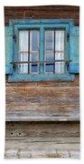 Window And Bench Beach Towel by Yair Karelic
