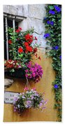 Window Garden In Arles France Beach Towel