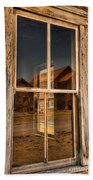 Window Into The Montana Past Beach Towel