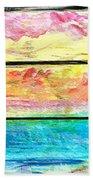 Window Scene Abstract Beach Towel