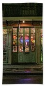 Window Shopping, French Quarter, New Orleans Beach Towel