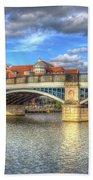 Windsor Bridge River Thames Beach Towel