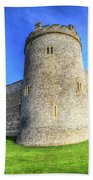 Windsor Castle Battlements  Beach Towel
