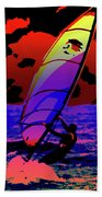 Windsurfer Beach Towel by Brian Roscorla