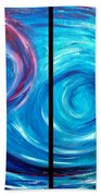 Windswept Blue Wave And Whirlpool 2 Beach Towel