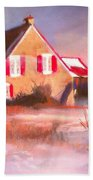 Windy Cold Sunny Day Beach Towel