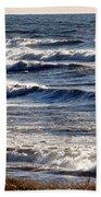 Windy Spring Lake Huron Beach Towel