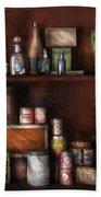 Wine - Rum And Tobacco Beach Towel by Mike Savad