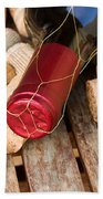 Wine Bottle And Corks Beach Towel