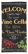 Wine Cellar Sign 1 Beach Sheet