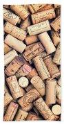 Wine Corks Beach Towel