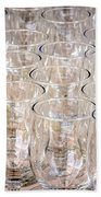 Wine Glasses Beach Towel