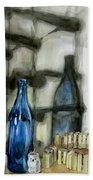 Wine Rack Shadows Beach Towel