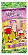 Wine Sign Beach Towel