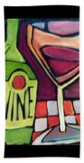 Wine Squared Beach Towel