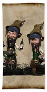 Wine Time For The Leprechauns  Beach Towel