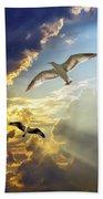 Wings Against The Storm Beach Towel