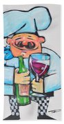 Wining Chef Beach Towel