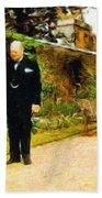 Winston Churchill, 1943 Beach Towel