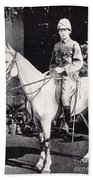 Winston Churchill On Horseback In Bangalore, India In 1897 Beach Towel