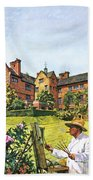 Winston Churchill Painting At Chartwell Beach Towel