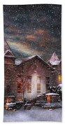 Winter - Clinton Nj - Silent Night  Beach Towel