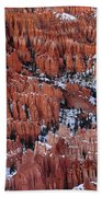 Winter Afternoon At Inspiration Point Bryce Canyon National Park  Utah Beach Towel