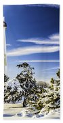 Winter At Cape May Light Beach Towel