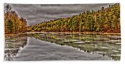 Winter At Pine Lake Beach Towel