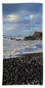 Winter At Sandymouth Beach Towel