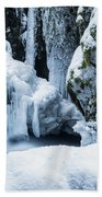 Winter At Virgin Creek Falls Beach Towel