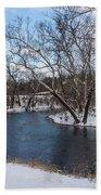 Winter Blue James River Beach Towel