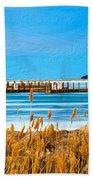 Winter Blues Beach Towel