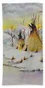 Winter Camp Beach Towel