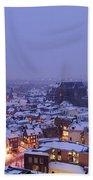 Winter Cityscape Of Utrecht In The Evening 14 Beach Towel