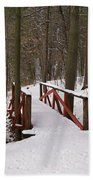 Winter Crossing Beach Towel