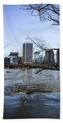 Winter Day At Belle Isle Beach Towel