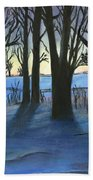 Winter Day's End Beach Towel