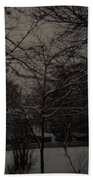 Winter Dusk Beach Towel